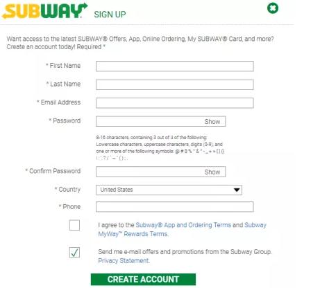 Mysubwaycard Registration